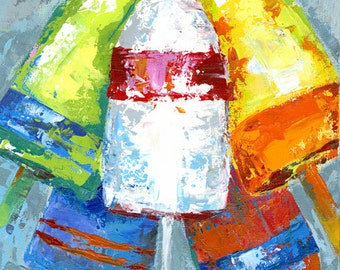 My Buoys! : Fine art buoy giclee print from original acrylic painting