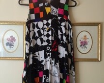 1990s Abstract Blouse