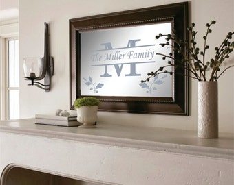 XL Personalized Mirror with your Family Name