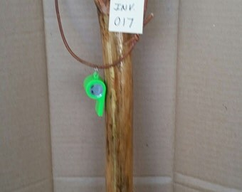 Handcrafted Walking Stick With Cardinal  Clip Art