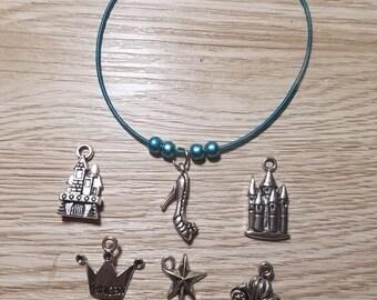 10 Blue Bracelets - Cinderella Inspired  - Party favors.