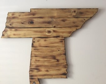 Tennessee/Alabama wooden sign