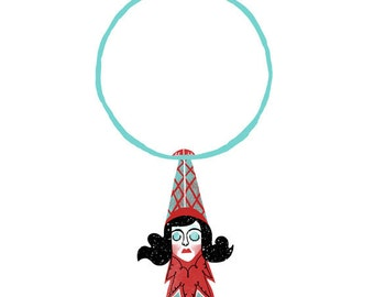 Circus Girl - Aerial Hoop Illustration - A4 or A6