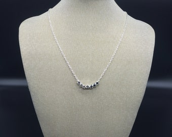 Shiny silver nugget necklace