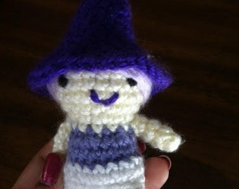 amigurumi crocheted witch doll