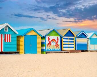 Beach Decor, Beach House, Beach Photography, Fine Art Prints, Wall Art, Beach Prints, Colorful, Beach, Nautical, blue, green, yellow, red