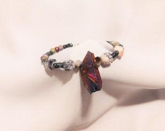 Mystical Galaxy Stone Wire Bracelet