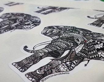 "Zentangle ""Vera's Elephant"" Sticker"