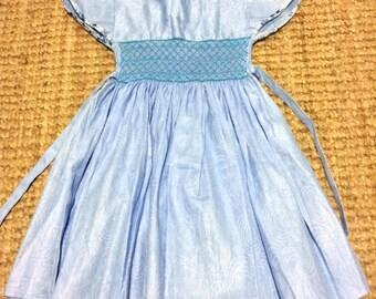 Blue Wax Print Dress
