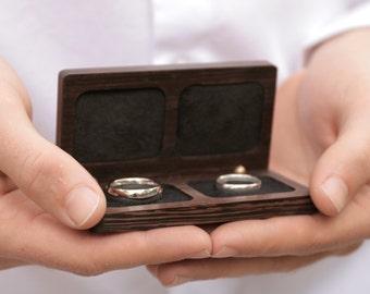 Woodsbury Wedding Ring Box, Wedding Gift, Anniversary Gift, Wooden Box, Ring Box, Gift, Hand Crafted, Handmade box, Wenge Timber (Wedding)