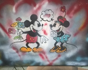 one off original mickey mouse stencil graffiti art (open to sensible offers)