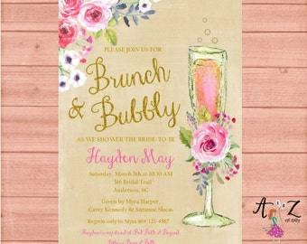 bridal shower brunch invitation brunch and bubbly brunch bridal shower invitation bridal shower