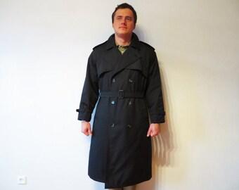Navy blue raincoat | Etsy