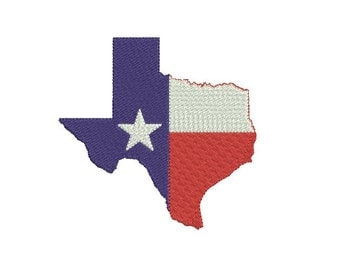Texas embroidery design - Flag fill stitch embroidery design - Texas state design - INSTANT DOWNLOAD - Machine embroidery file - 5 SIZE