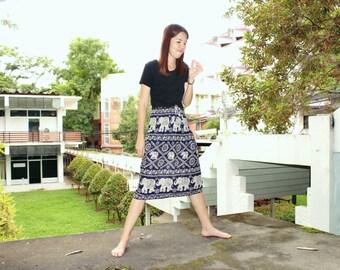 Dark blue Skirt Gypsy Skirt Thai Skirt Harem Skirt Hippie Skirt Boho Skirt Bohemian Skirt Charming Skirt Elephant Skirt