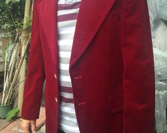 Dayton's Red Velvet Blazer
