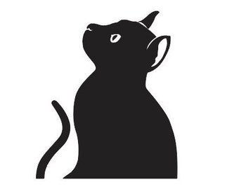 Cat Gazing Upwards - File Download - svg, png, dxf, eps, jpeg file formats