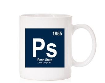 Penn State University Periodic Style Mug | Penn State Nittany Lions | State College PA |  PSU | Dark Theme