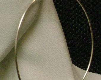 Extra Long Sterling Silver Hoop Earrings