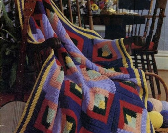 Crocheted Patchwork Afghans (Leaflet 177) Pamphlet – 1980 by Leisure Arts
