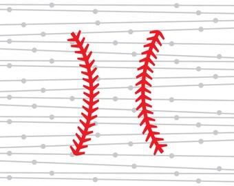 Baseball Stitches SVG, Softball Stitches SVG, Monogram, DXF, Digital Cut FIle