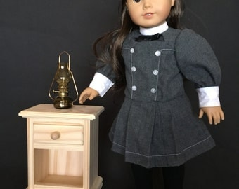 """Nightstand for American Girl and All Other 18"""" Dolls - Select Pine - Unfinished"""