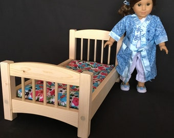 "Standard Bed for American Girl and All Other 18"" Dolls - Whitewood - Unfinished"