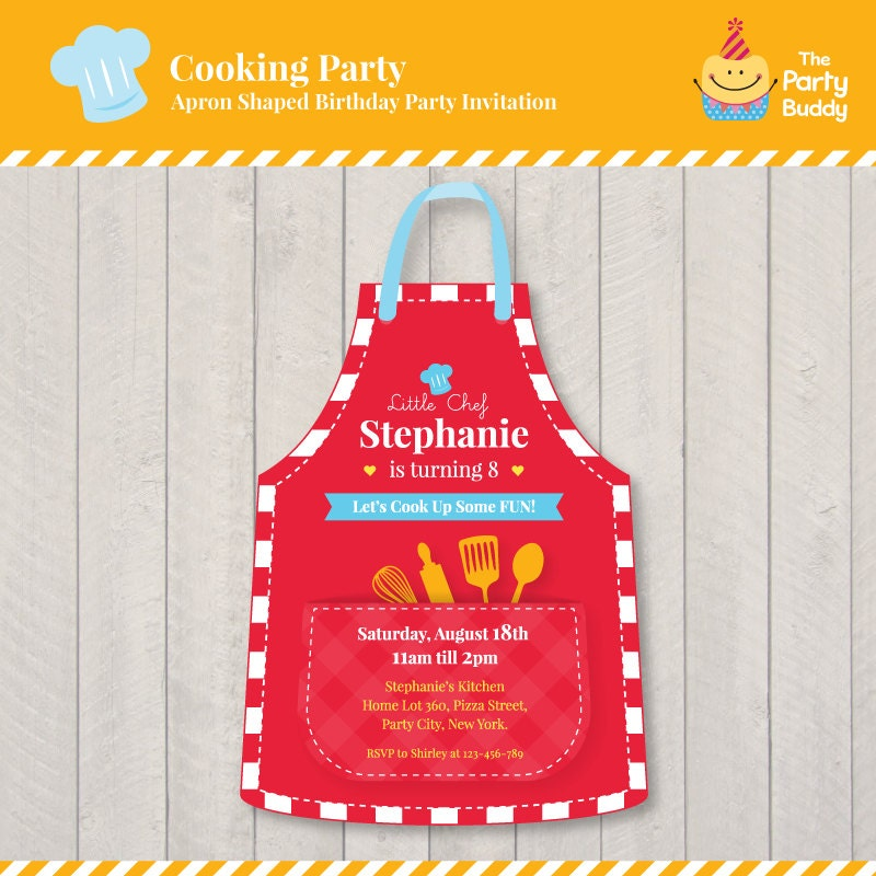 Little Chef\'s Cooking Party Birthday Invitation Design | Girls ...