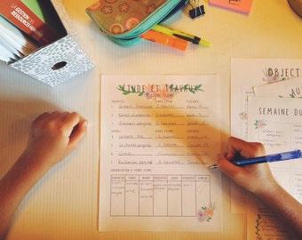 Planificateur étude/travaux à court terme
