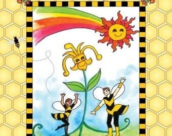 Two Cajun Bees and a Fleur de lis