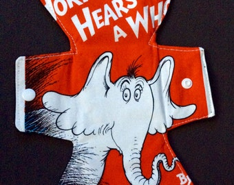 """10.75"""" Dr Suess Horton hears a Who moderate absorbency pad"""