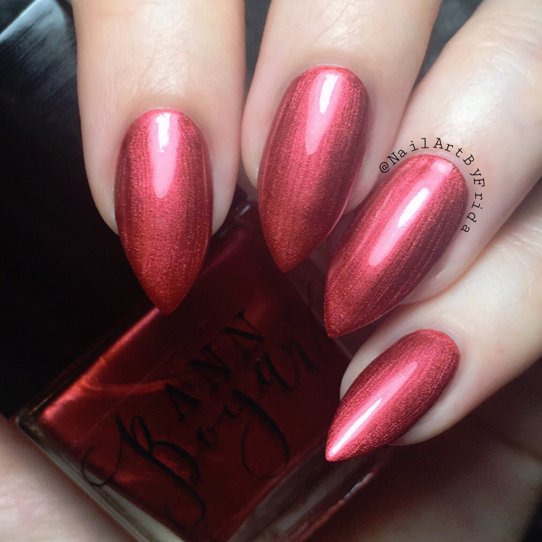 Dark Red Nail Polish: CAMINO Maroon Nail Polish Dark Red Nail Polish Nail