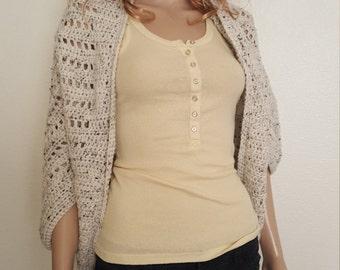 Stylish & Simple Shrug Crochet Pattern, Cardigan Shrug, Crochet Shrug, Crochet Cardigan Shrug, Crochet Sweater