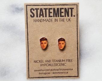 Justin Bieber Head / Belieber Stud Earrings - 1 pair