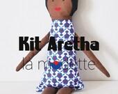 Doudou poupée kit à coudre - Aretha - cadeau poupée de chiffon enfant