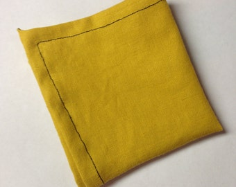 Ochre Yellow Pocket Square