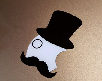 Vinyl Decal - Top Hat and Moustache