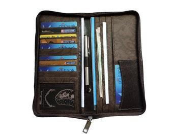 Zipper Clutch Wallet-Travel wallet organizer-Card Holder- Clutch Wallet-Travel Clutch-Men's wallet Clutch-Women's Clutch-Card Wallet