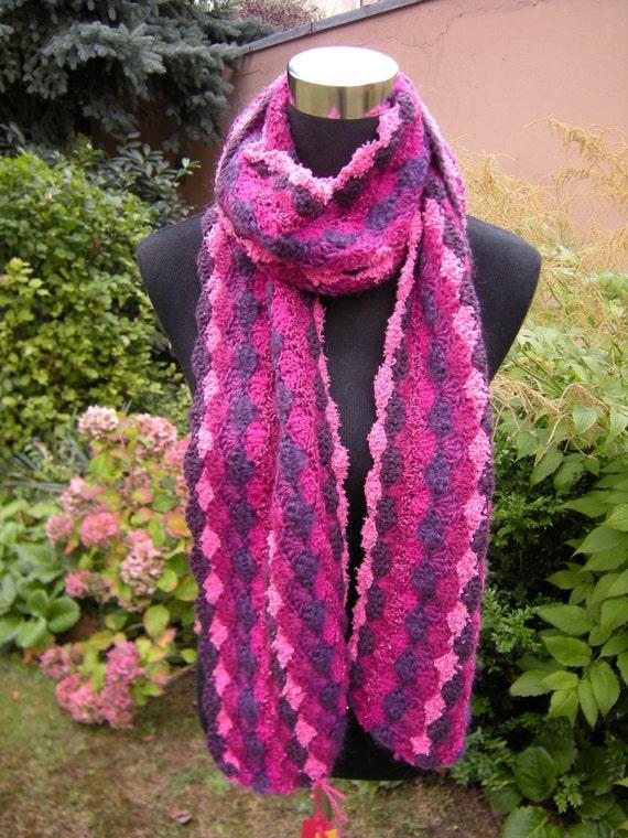 """Häkelschal-""""Pink Purple"""" scarf shawl scarf"""
