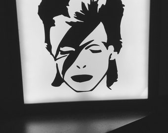 David bowie art, neon light sign, neon sign, wall decor, ziggy stardust, eclectic home decor, night light, custom sign, light up sign,