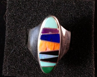 Sterling Silver vintage western style ring