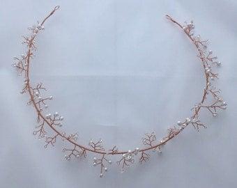 Gardenia - Bridal Hair Wreath