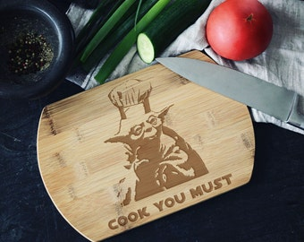 Cook You  Must Yoda The Cook Bamboo Cutting Board