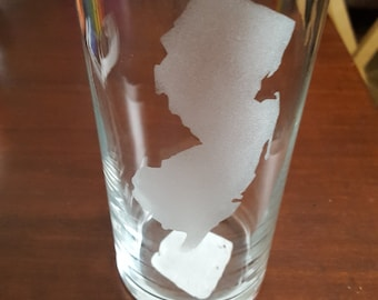 New Jersey Etched Glass