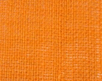 "8oz Light Orange Burlap by the Yard - 46"" Wide, 100% Jute"