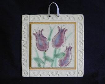 Ceramic Tile Wall Hanging with ceramic frame,