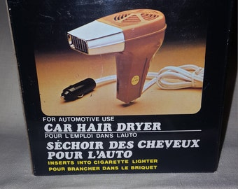 Vintage 1980 Car Hair Dryer New in Box