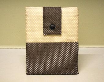 Tablet Sleeve Retro Design Case Polka Dot Cream Brown Ipad 50s