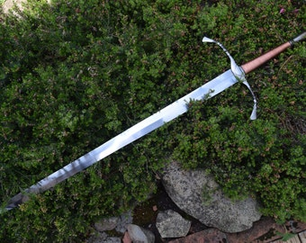The Brazed Flame, Hand Forged Sword, Copper wound grip