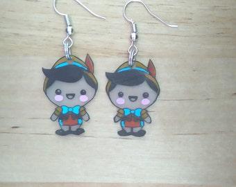 Pinnochio kawaii earrings